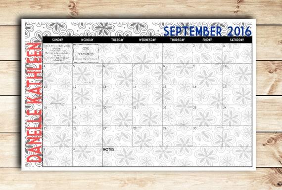 Blank Calendar Desk Pad : Printable digital diy custom desk calendar
