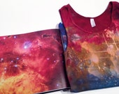Hand Dyed Tank Top | Rainbow Galaxy Shirt | Deep Colors Shirt | Star Tank Top | Hubble Inspired Clothing | Large Dyed Tank