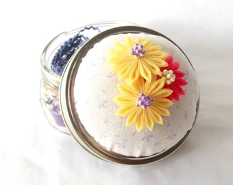 Mason Jar Pin Cushion with Notions Kit Unique Sewing Gift Idea