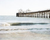 Malibu California, Beach Art, Large Ocean Art, Malibu Pier, Wave, Coastal Decor, PCH, Malibu Beach Print, Canvas Art, Large Art Print