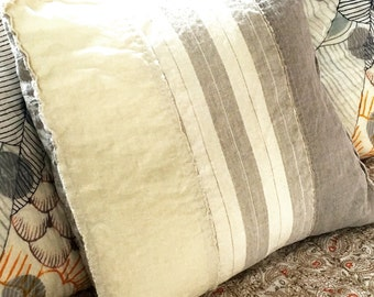 the aimée washed linen pillow cover, linen pillow cover, linen