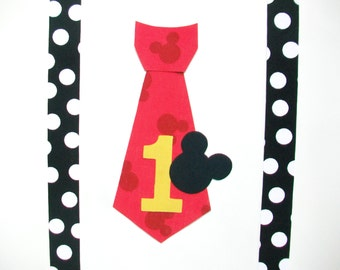 DIY No-Sew Mickey Mouse Tie and Suspenders Fabric Applique - Iron On