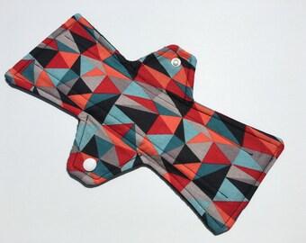 10 Inch Cloth Menstrual Pad Regular Flow Geometric