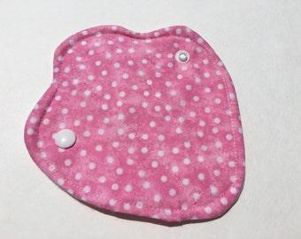 """Reusable Thong Liner 6"""" Pink Polka Dot"""
