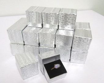 25 count - Silver Foil Ring Box
