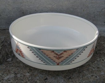 vintage mikasa intaglio santa fe vegetable bowl southwest design