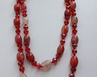 Cornelian long necklace