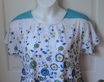 S&L - Post Surgery Shirt/ Mastectomy/ Special Needs Clothing - Hospice, Stroke and Seniors/ Shoulder Surgery / Breastfeeding - Style Tracie