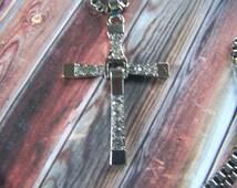 Men's Cross Necklace Large