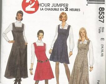 McCall's 8537 Women's Jumper Pattern SZ 14-18
