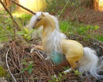Palomino Unicorn handmade Art Doll