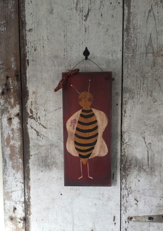 Primitive Country Decor Bee Rustic