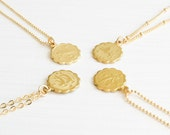 Zodiac Necklace | Gold Zodiac Necklace | Astrological Necklace | Gold Charm Necklace | Personalized Necklace