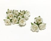 15 Tiny CREAM WHITE Sweetheart Roses - MINIATURE Roses, Silk Flowers, Artificial Flowers, Flower Crown, Wedding, Millinery