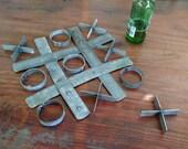 Tic Tac Toe - 100% Recycled wine Barrel rings