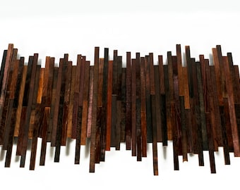 BARREL ART SKYLINE - Speculo  - Limited Edition Wine Barrel Wall Art // Unique // Cityscape // Wall Decor // Recycled Reclaimed Oak