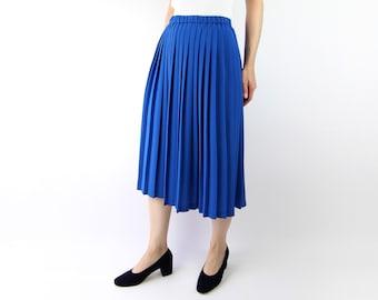VINTAGE Blue Pleated Skirt
