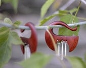 """WINDCHIME Organic Gauge Earrings Plugs Weights for Stretched Piercings 4g 2g 0g 00g 10mm 1/2"""" *CUSTOM*"""
