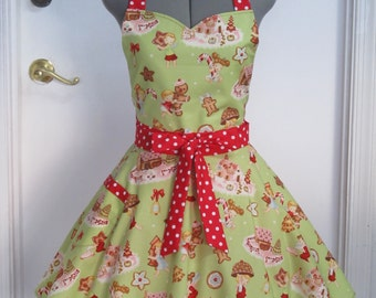 Angels Cakes Retro Christmas Apron - Limited Edition