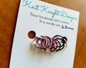 Purple Gradient stitch marker set - size medium