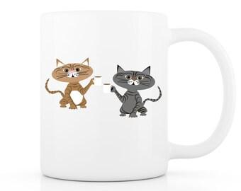 Cat Mug - Your Cat as a Cartoon on a Mug! Funny Mug, Custom Mug, Custom Pet Portrait, Personalized Mug, Cat Gift, Funny Cat Mug, Coffee Mug