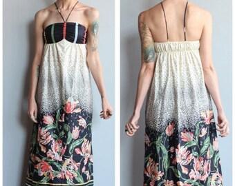 20% Sale 1990s Maxi Dress // Gillian Floral Maxi Dress // vintage 90s dress
