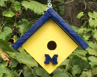 U of M wooden birdhouse
