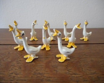 10 Diecast Lead Geese Sold Individually