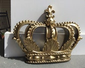 Crown/Gold Wall Decor/ Shabby Chic Decor/ Home and Garden Decor/Gold Crown Decor/ Bedroom Decor