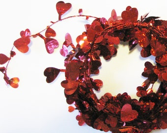 Red Heart Garland, Gift Wrapping, Photo Prop, Blogger Favorite,  Valentine Party, love garland