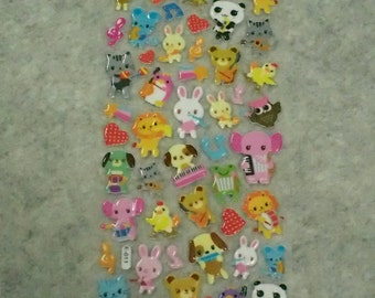 Mixed Fun Musical Animals Stickers