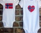 Norwegian Flag Top, Baby Norwegian Shirt