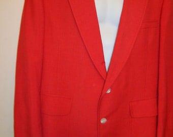 """VINTAGE 1970'S """"JACK'S for SLACKS"""" Red Men's Sport Coat(available)"""