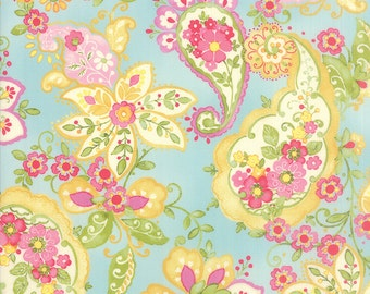 Colette - Floral Paisley in Sky by Chez Moi for Moda Fabrics