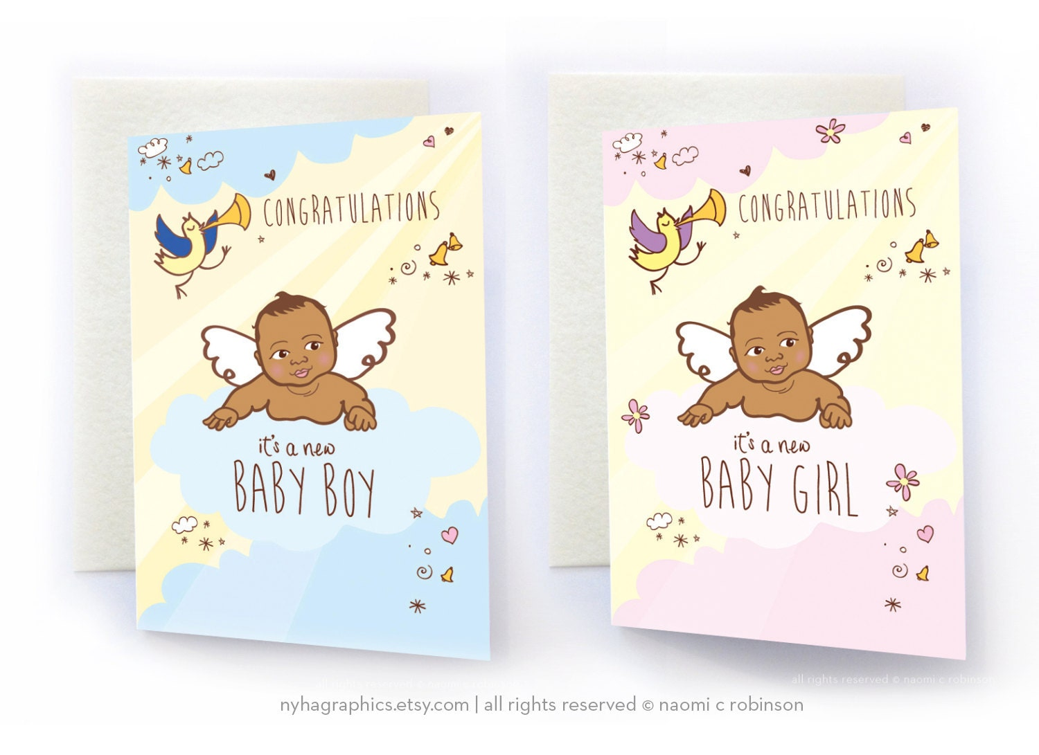 African American Baby New Baby Card Congratulations Baby