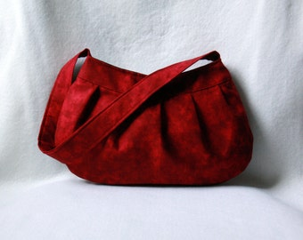 Small Red Purse: Burgundy Marbles Buttercup Bag