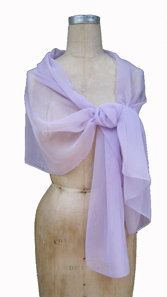 Lavender Chiffon Shawl Wrap