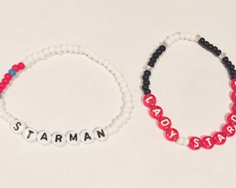 STARMAN / LADY STARMAN Beaded Friendship Bracelets