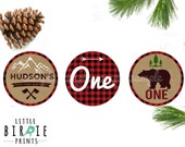 LUMBERJACK Birthday Party Decorations - Cupcake Toppers - Lumberjack Party Buffalo Plaid Party Printables