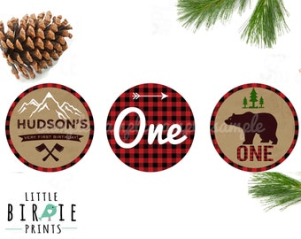 LUMBERJACK Cupcake toppers Lumberjack party decorations Lumberjack First birthday party Lumberjack Party printables Cupcake toppers