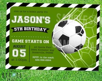 SOCCER INVITATION - SOCCER Birthday party - Soccer birthday Invitation - Soccer party