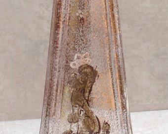 Hand Decorated Bottle 22KT Gold Poodle Bath Splash Bottle J. Magnin Vintage 021116RV