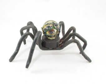 Walking Eyeball Spider #17 - hand forged with borosilicate eyeball marble