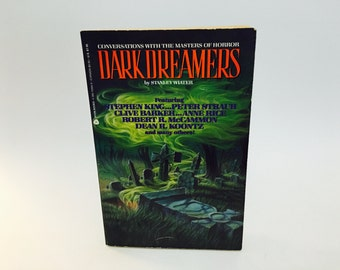 Vintage Non Fiction Book Dark Dreamers: Conversations with the Masters of Horror by Stanley Wiater 1990 Softcover