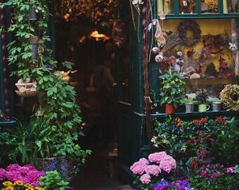 The Flower Shop - 8x10 Fine Art Photograph, European, Travel, Czech Republic, Prague