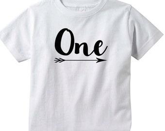 First Birthday One Birthday shirt, Boy or girl Birthday, 1st Birthday shirt, Happy 1st Birthday tee