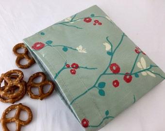 Reusable Snack Bag - Reusable Baggie - Butterfly Snack Bag - Fabric Snack Bag - Reusable Fabric Snack Bag - Butterflies on Blue