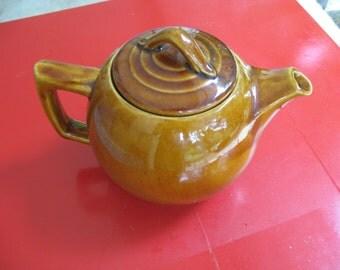 McCoy Brown Glaze teapot