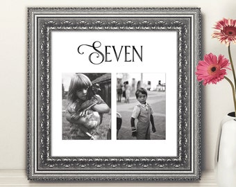 Photo Table Numbers / Square / Wedding Table Numbers / Childhood tn0027