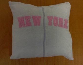 SALE Handmade NEW YORK pillow